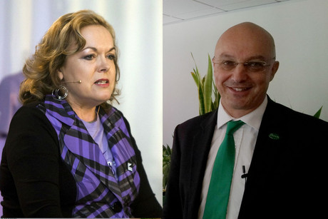 ACC Minister Judith Collins and Green MP Kevin Hague