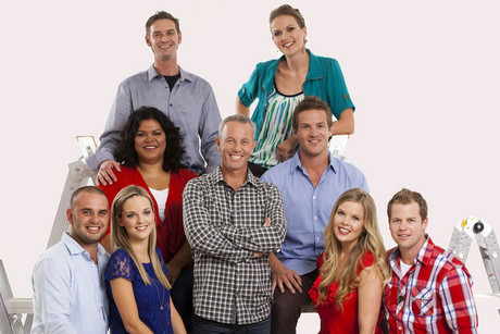 The four couples of The Block NZ and host Mark Richardson