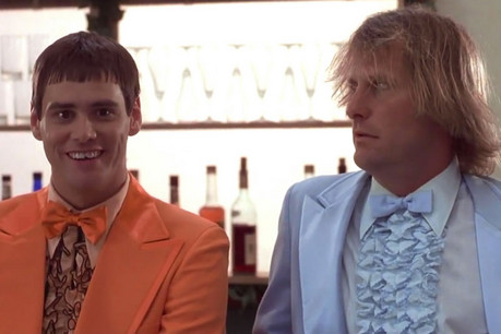 Jeff Daniels and Jim Carrey in Dumb & Dumber