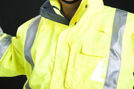 The man was wearing a hi-vis jacket similar to this one (file pic)