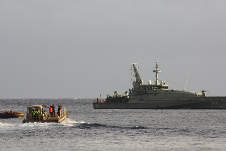 The asylum seekers arrive at Christmas Island (AAP)