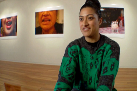 Ane Tonga has just finished exhibiting her latest photographic work titled 'Grills' (2012)