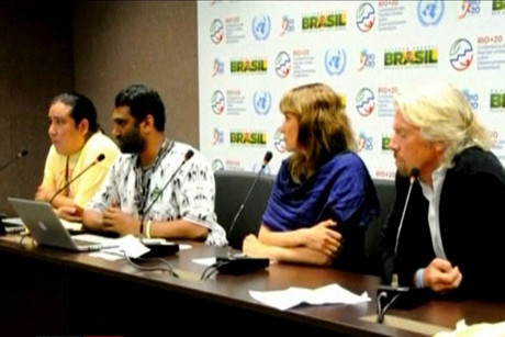 Lucy Lawless joins Richard Branson and others at the Rio+20 Earth Summit