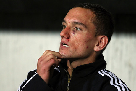 Aaron Cruden is in doubt for the resumption of Super Rugby next weekend with an achilles tendon injury (Photosport file)