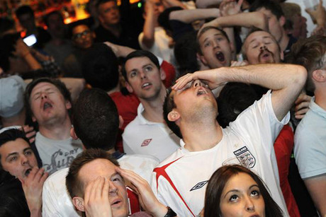 England fans show their dissapointment (Reuters)
