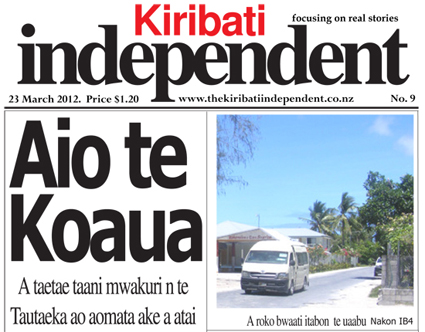 The Kiribati Independent has been shut down indefinitely (PMC/KI)