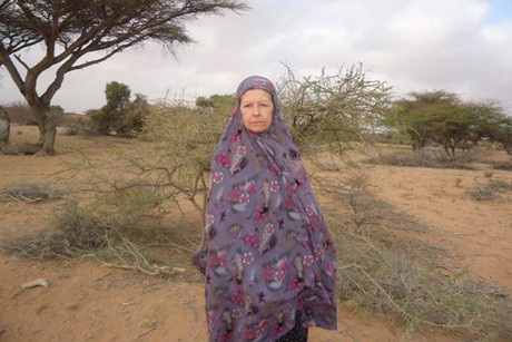Judith Tebbutt is seen in the outskirts of Adado town in central Somalia (Reuters file)