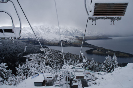 New snow over Queenstown