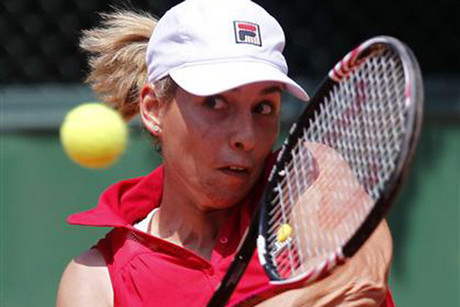 Kiwi Marina Erakovic blitzed through the first round of Wimbledon (file pic)