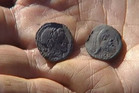 Two of the 50,000 coins found on the island of Jersey