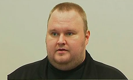 Kim Dotcom in court