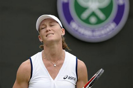Samantha Stosur was Australia's last hope in the singles at Wimbledon (Reuters)