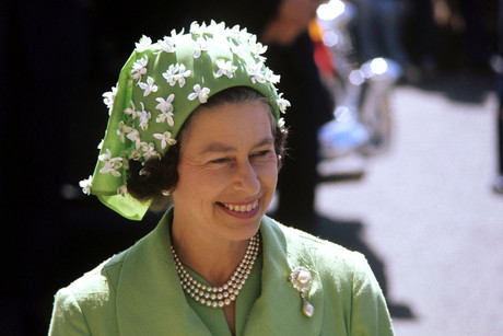 Queen Elizabeth II during a visit to the Princess Margaret Hospital, Christchurch, March 1977 (AAP)