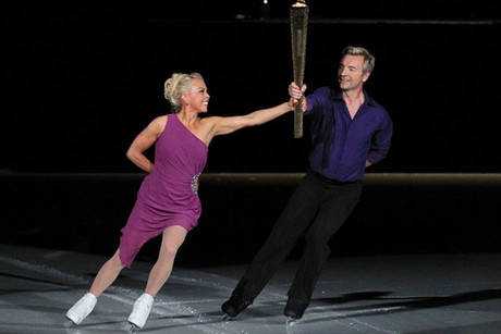World champion ice skaters Jayne Torvill and Christopher Dean