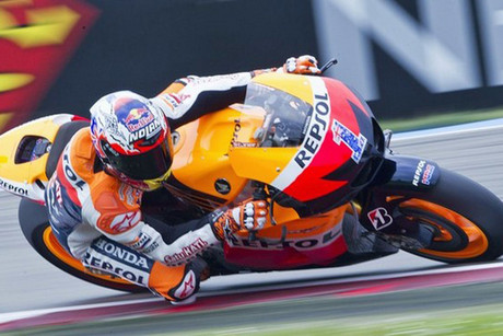 Casey Stoner of Australia rides during the qualifying (Getty)