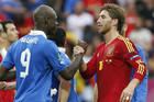 Mario Balotelli (L) and Sergio Ramos are set to meet again in the Euro 2012 final (Reuters file)