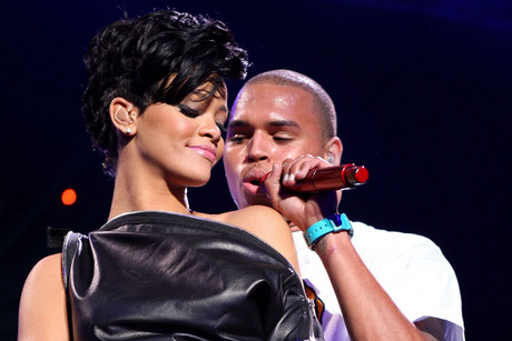 Rihanna and Chris Brown in 2008 (Getty)