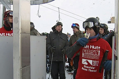 Mount Hutt staff say the big snow on Wednesday came just in time for opening day