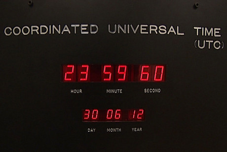 "At 11:59am today all atomic clocks around the world had a ""leap second"" inserted in them"