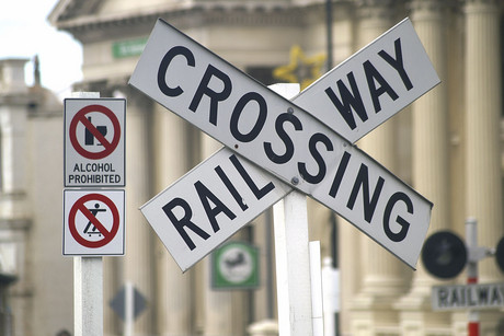 A man has died more than a week after the car he was driving was hit by a train on a level crossing (file)