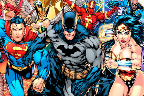Justice League art featuring Batman, Superman and Wonder Woman