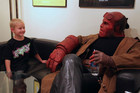 Ron Perlman as Hellboy with Zachary (Spectral Motion / Facebook)