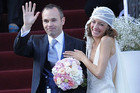 Andres Iniesta married long-time partner Anna Ortiz (Reuters)