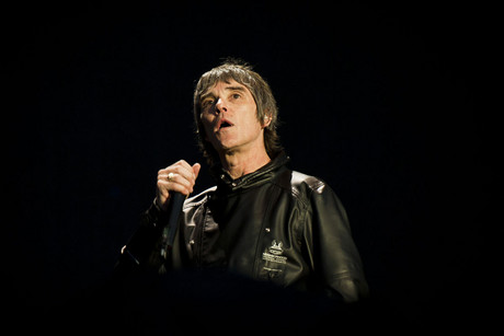 Ian Brown of The Stone Roses performs on stage (AAP)