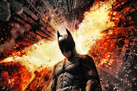 The Dark Knight Rises poster art