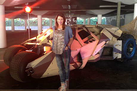 Kate Rodger and the latest Batmobile