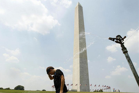 The Washington Monument was damaged in an earthquake last year (Reuters)