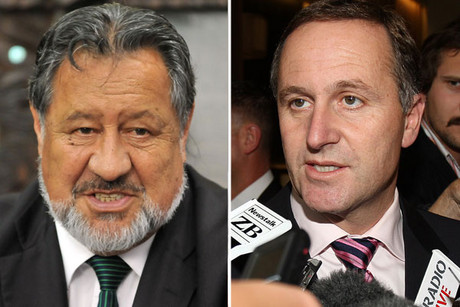 Prime Minister John Key faces a showdown with Maori Party co-leader Pita Sharples (file)
