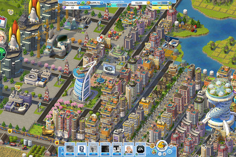 SimCity Social screen