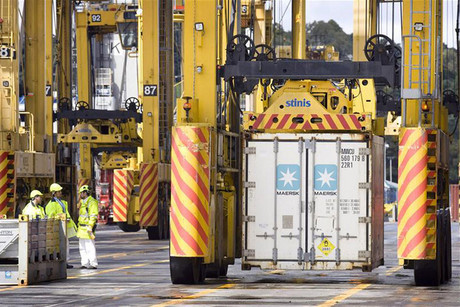 A transport union fears more jobs losses are imminent if a national ports strategy isn't put in place (file: Reuters)
