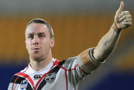 Warriors James Maloney gives things the thumbs up (Photosport)