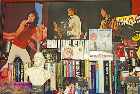 Fan Richard Fox has amassed quite a collection of Rolling Stones memorabilia