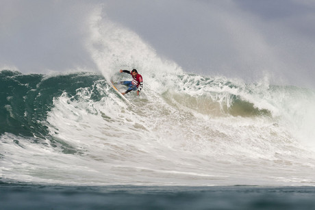 New Zealand surfer Jay Quinn in action during heat 14 of Round 2 of the Billabong Pro at Jeffreys Bay in South Africa (NZN)