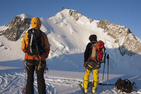 Climbers look at Mont Maudit (file: Reuters)