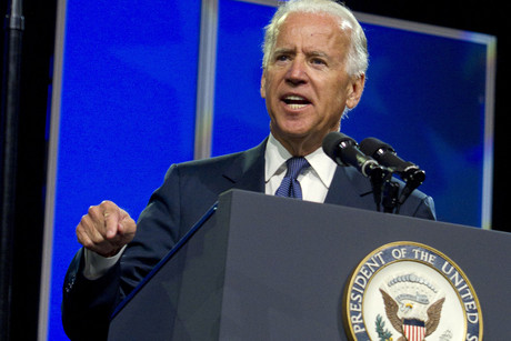 US Vice President Joe Biden speaks at the NAACP convention (Reuters)