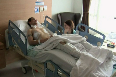 Sean Kenzie in hospital in Phuket