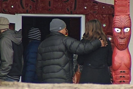 Friends and colleagues of the crash victims have been welcomed at the local marae