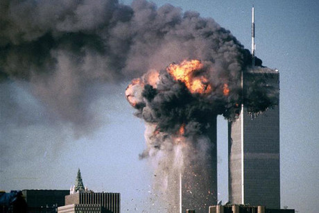 The 9/11 attack on the World Trade Center towers in New York was the most memorable television event according to the survey (Reuters)