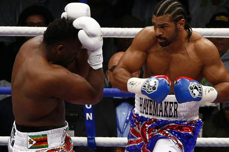 Haye put Chisora down for good with a left hook (Reuters)