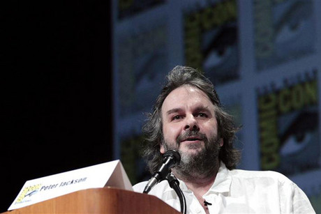 Peter Jackson speaks during a panel for The Hobbit: An Unexpected Journey at Comic-Con (Reuters)