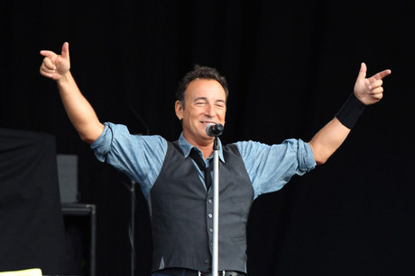 Bruce Springsteen performs at the Hard Rock Calling event (AAP)