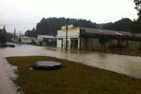 Flooding in the Ruapehu district yesterday
