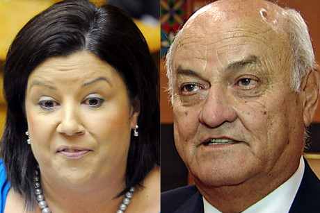 Social Development Minister Paula Bennett and multimillionaire businessman Owen Glenn (file)