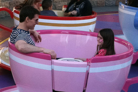Tom and Suri Cruise at Disneyland in January (WENN.com)