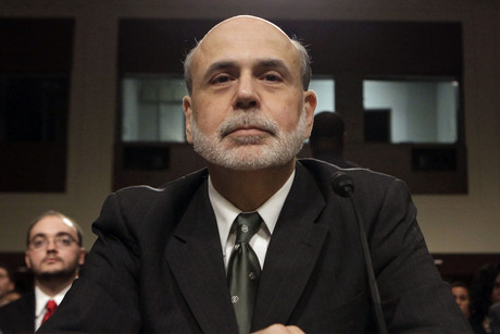 Federal Reserve Chairman Ben Bernanke testifies before the Senate Banking, Housing and Urban Affairs Committee (Reuters/Yuri Gripas)