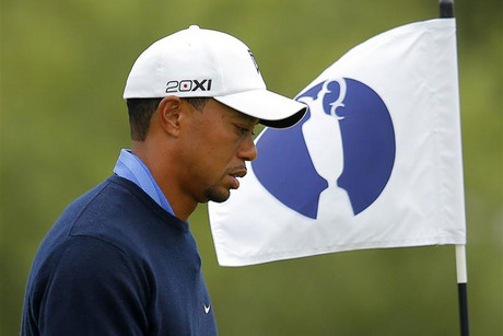 Tiger Woods during a practice round at Royal Lytham and St Annes (Reuters)